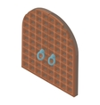 Door from castle icon cartoon style vector image vector image