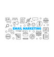 email marketing concept horizontal outline vector image