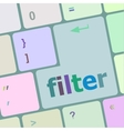 filter button on computer pc keyboard key vector image
