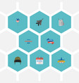 flat icons decoration identity aircraft and vector image
