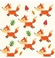 Fox cartoon icon Woodland animal graphic vector image vector image