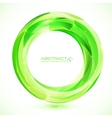 Green crystal ring frame vector image