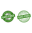 grunge stamp and silver label gmo free vector image vector image