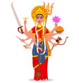 happy dussehra maa durga on white background vector image vector image