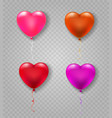heart shape balloons vector image
