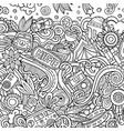 hippie hand drawn doodles hippy frame card design vector image vector image