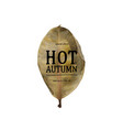 hot autumn sale banner vector image vector image