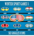 Icon goggles with flag of world vector image