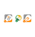 idea solution bulb template set vector image vector image