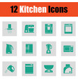 kitchen icon set vector image vector image