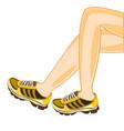 legs in atheletic footwear vector image vector image