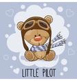 Little Pilot vector image vector image