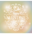 Love You Text on Blurred background with floral vector image vector image