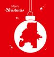 merry christmas theme with map of atlanta georgia vector image vector image