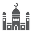 mosque glyph icon islamic and religion building vector image vector image