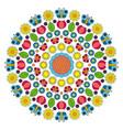multi colored circular spring mandala vector image vector image