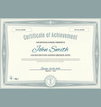 official light green certificate of a4 format with vector image