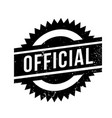 official rubber stamp vector image vector image