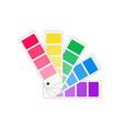 pantone color palette guide colour swatch vector image