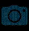 photo camera composition icon of halftone spheres vector image