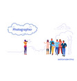 photographer taking a picture of business people vector image vector image