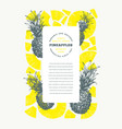 pineapples design template hand drawn tropical vector image vector image