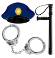 Police accessories vector image vector image