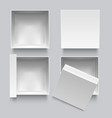 realistic detailed 3d white blank top view box vector image vector image
