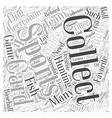 Recreation sports collecting Word Cloud Concept