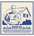 Roofer silhouette poster poster vector image vector image