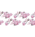 rose flowers pink floral pattern vector image