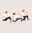 running business people vector image vector image