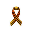 russian victrory day ribbon with crossed ends vector image vector image