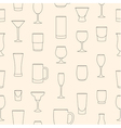 Seamless pattern made of linear drinkware vector image vector image