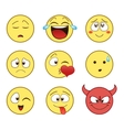 set emoticon vector image vector image