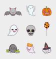 set halloween cartoons vector image