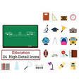 set of 24 education icons vector image vector image