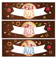 Set of banners for theme pizza with different vector image