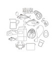set of healthy food ingredients vector image