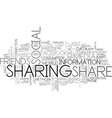 sharing word cloud concept vector image vector image