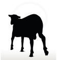 sheep silhouette with trot pose vector image vector image