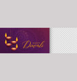 stylish diwali festival banner with image space vector image vector image