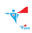 super human concept logo design abstract comix vector image vector image