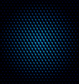 techno hexagon circle texture background vector image