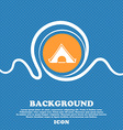 The tent icon sign Blue and white abstract vector image