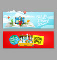 travel banners template advertising banners vector image