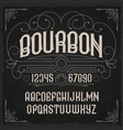vintage label typeface called bourbon vector image vector image