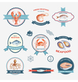 Watercolor set of labels vector image vector image