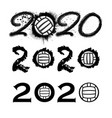 waterpolo 2020 new year numbers vector image
