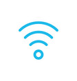 wi fi signal linear icon thin line vector image vector image